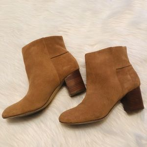 Banana Republic Tan Suede Ankle Boots Bootie